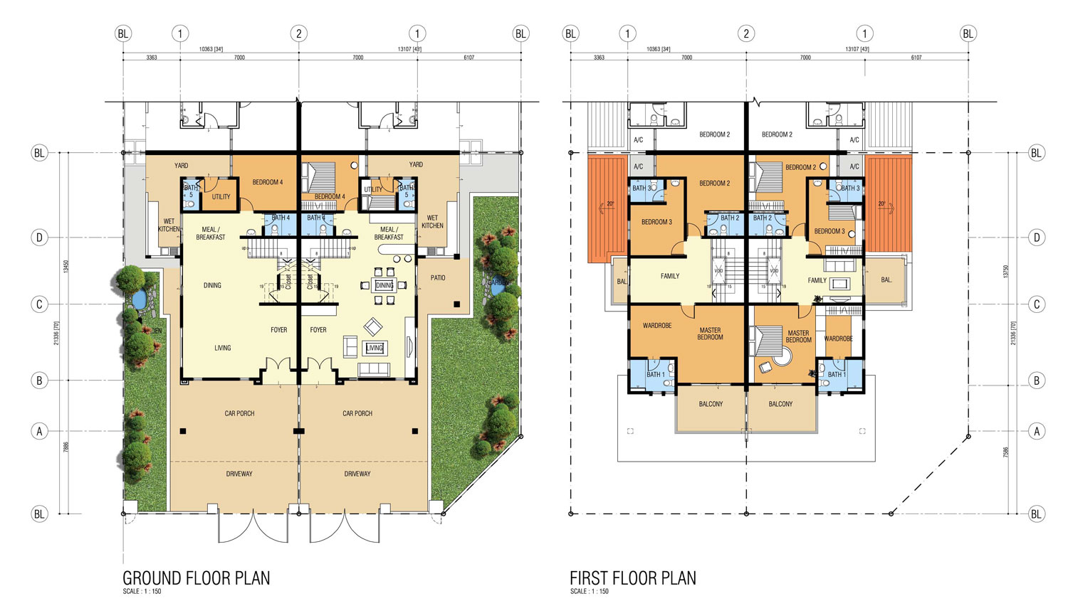 cluster house floor plan